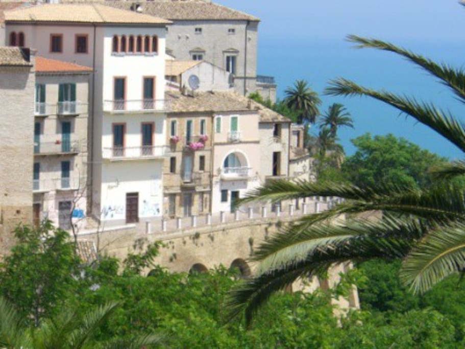 Vasto historical center where the house is located