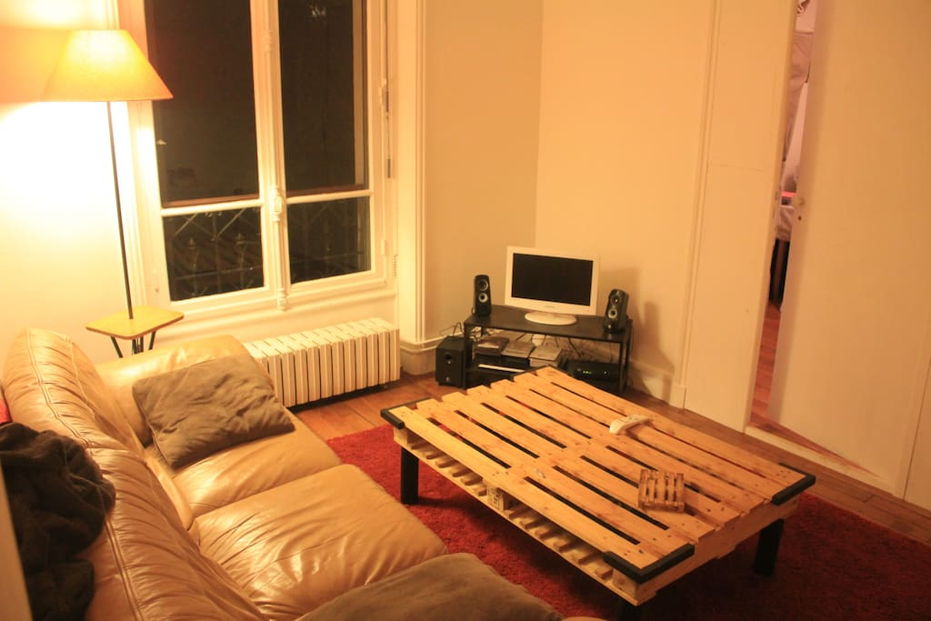 The living room by night...
