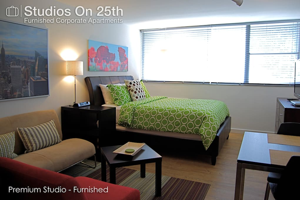 Chic city studio premium a apartments for rent in for Furnished studio apartments