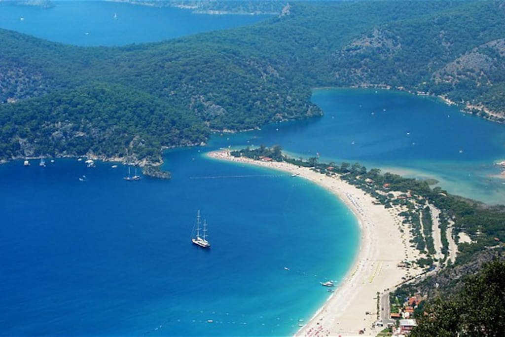Oludeniz, the nearest beach, 15 minutes by car.