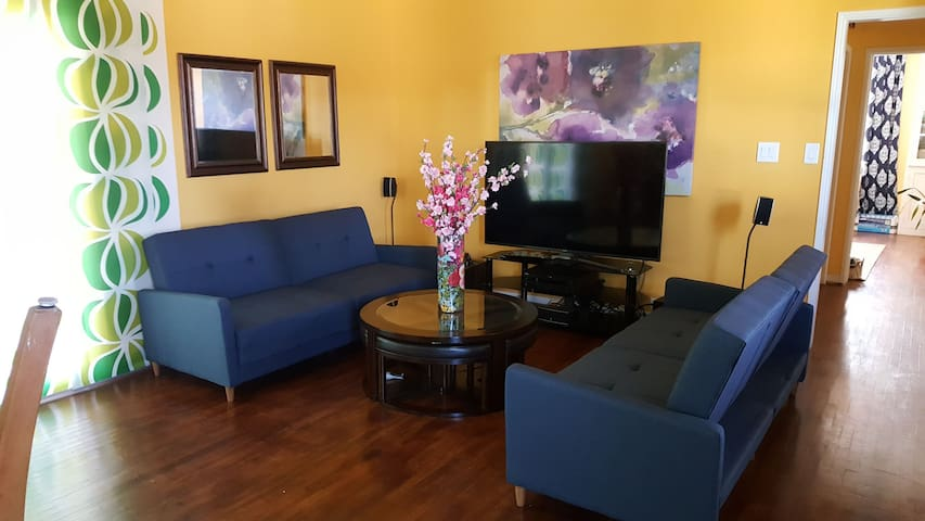 Comfy couch for one night stay in La Verne