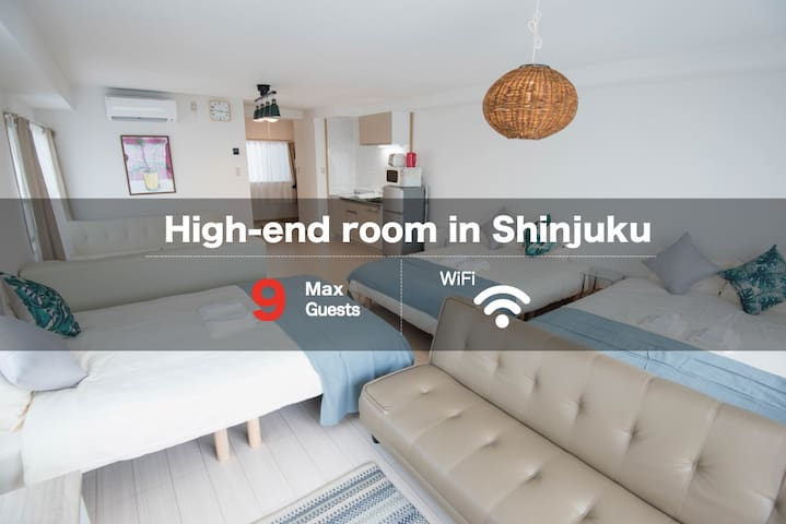 Walk 7min to JR Shijuku Sta./ luxurious room/TW52 - Shinjuku-ku - Apartment