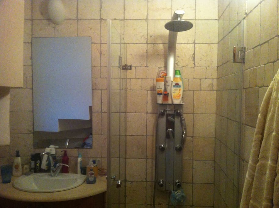 spa style shower