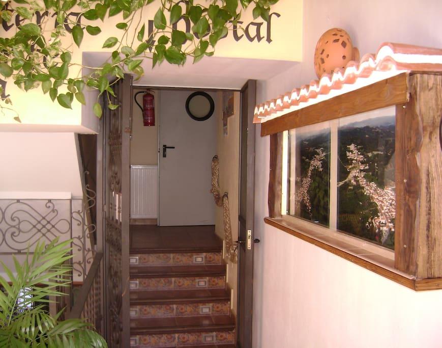 entrada a las habitaciones