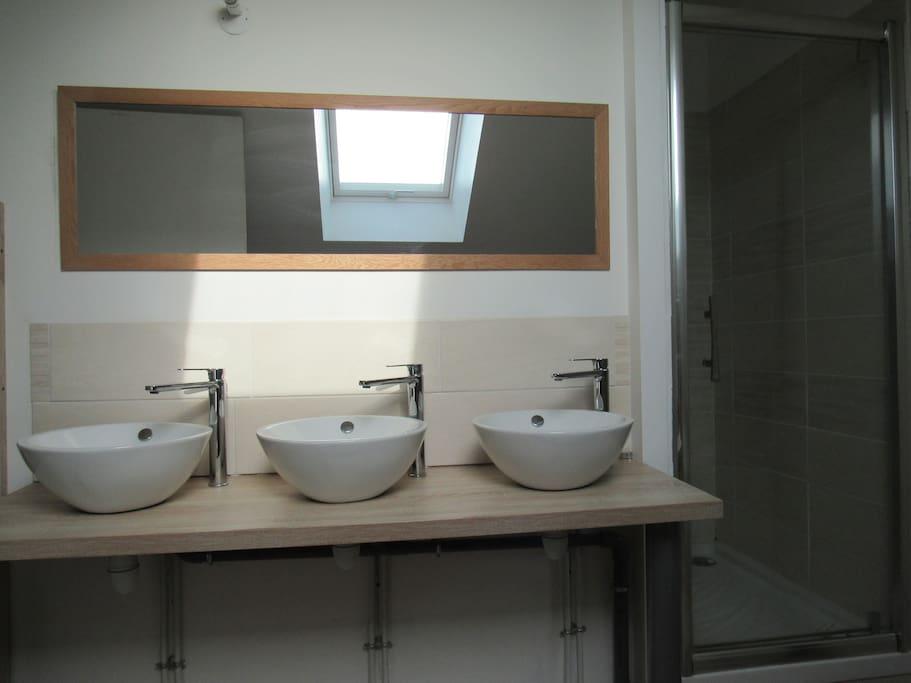 salle de bain douche+baignoire