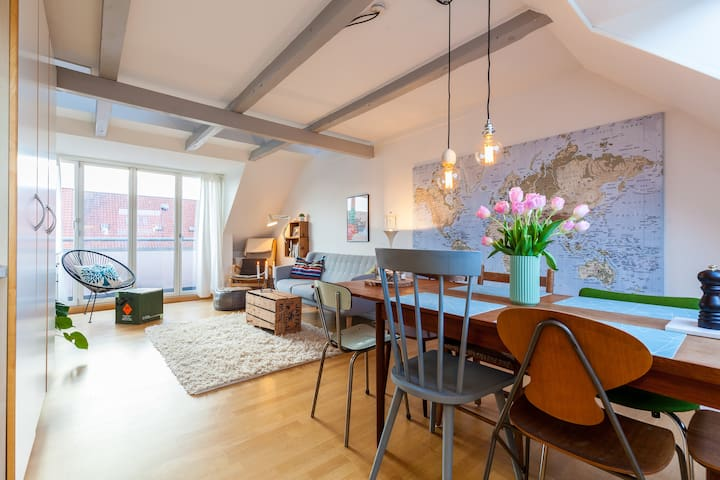 Cozy penthouse with balcony in the centre of Århus - Aarhus - Apartamento