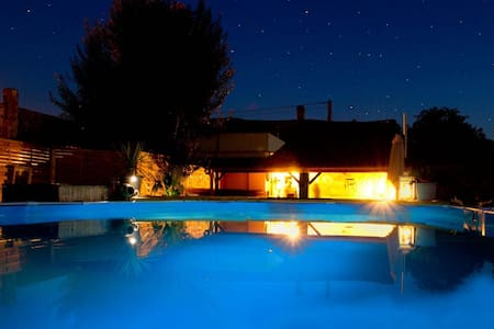 2 bedroom Renovated farm house with private pool.