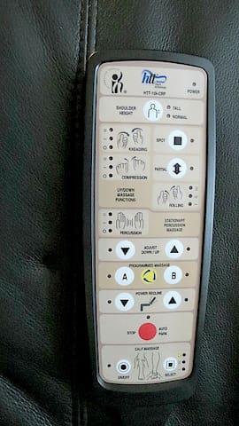 Massage chair control.