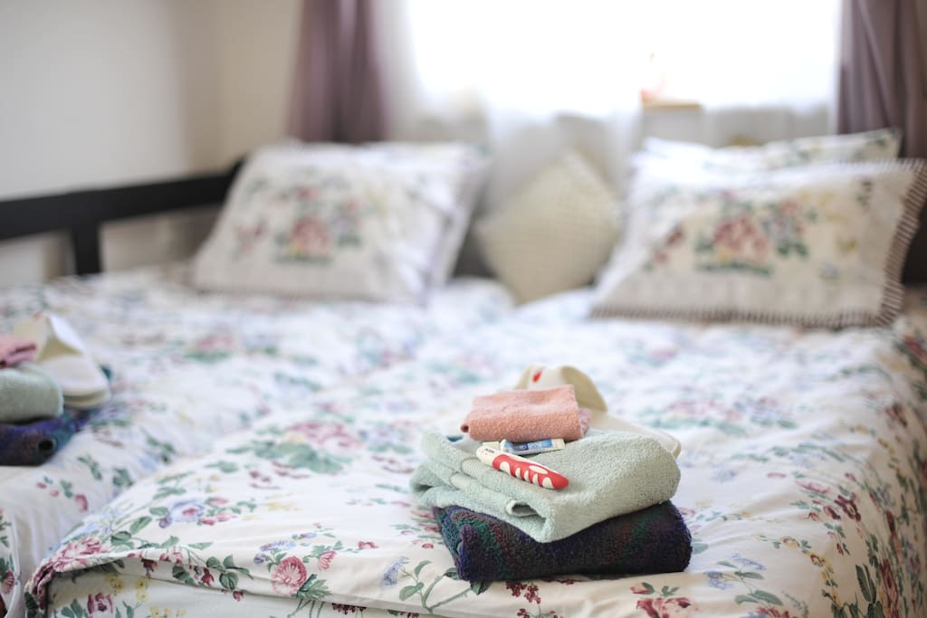 After a long day of touring, come rest on our special orthopedic beds with shoulder and hip pressure relieving points!