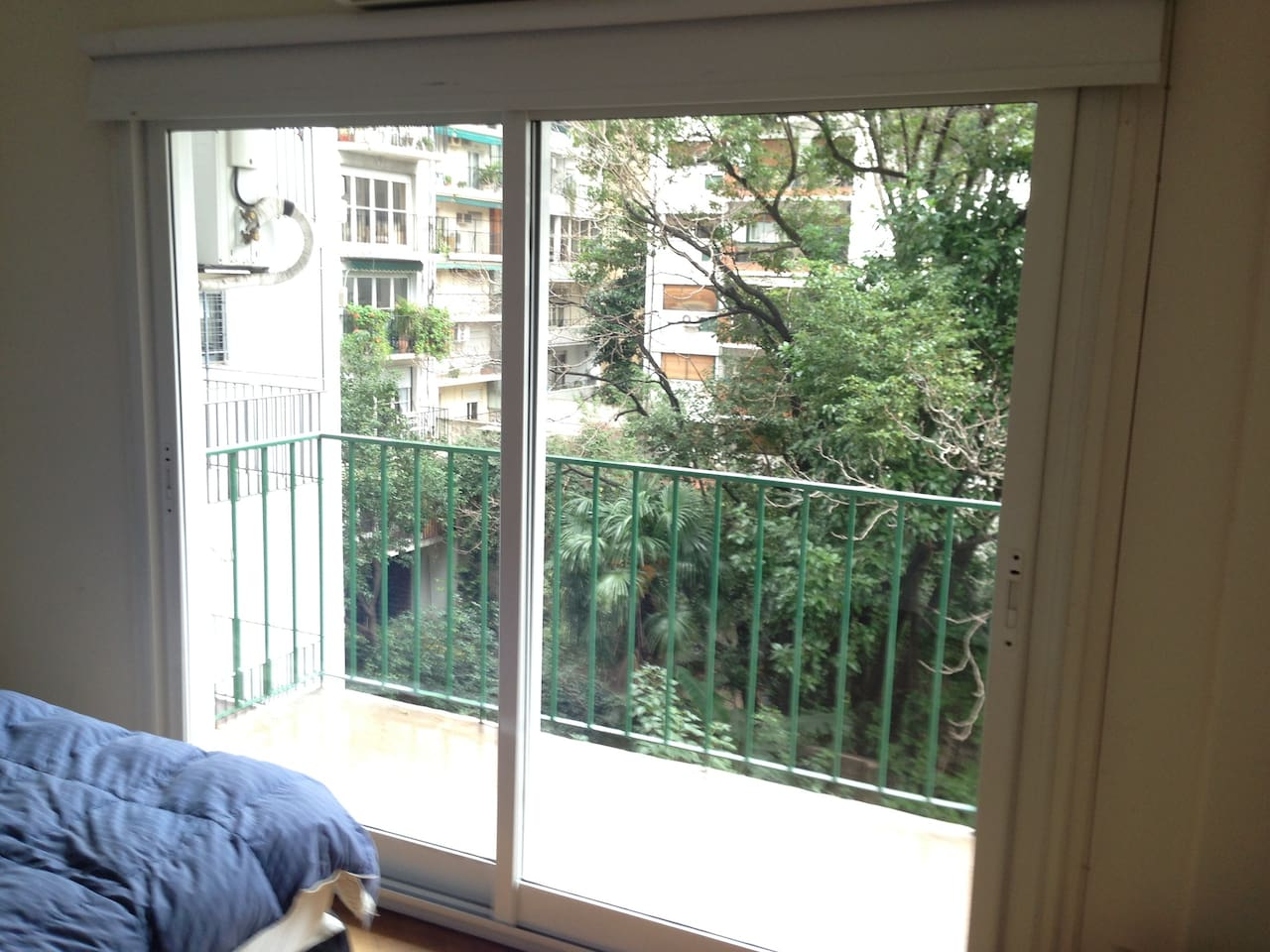 Luminous balcony on the Double bed room