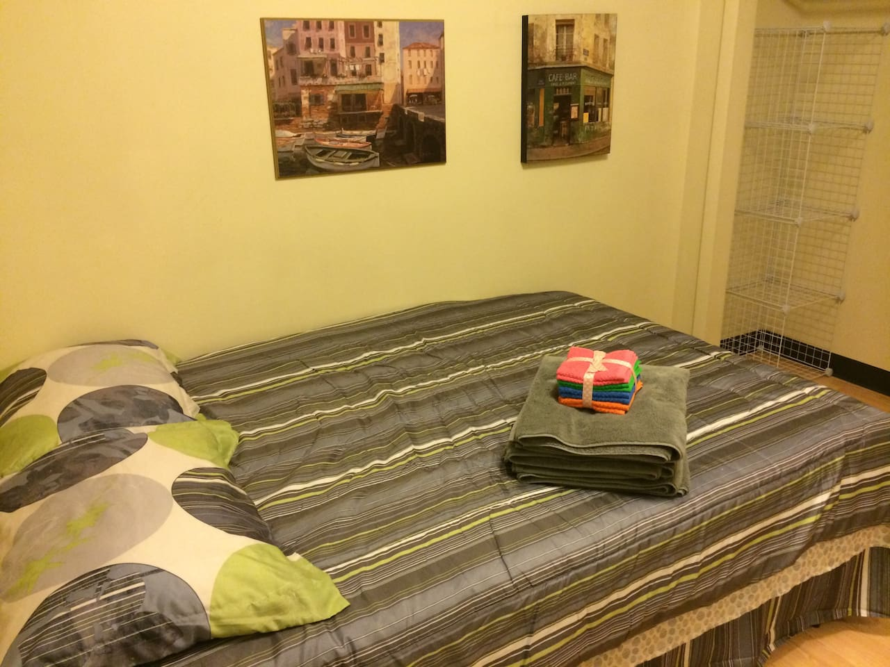 Your Bed To Sleep on! Fresh sheets, blankets and towels!
