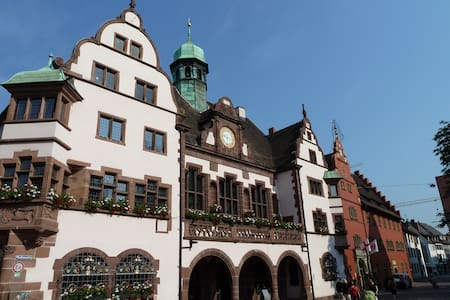 At historic Townhallsquare Freiburg - 弗莱堡 - 公寓