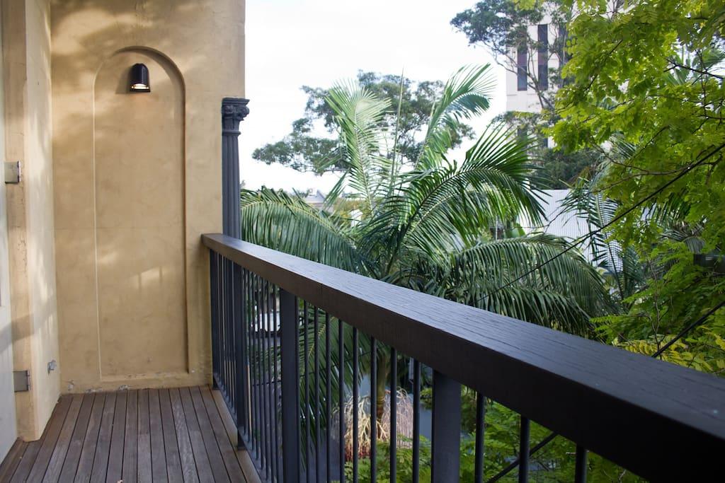balcony of guest's bedroom