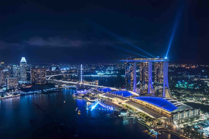 Entire amazing marina bay view 3BR 1Min MRT金沙景近地铁