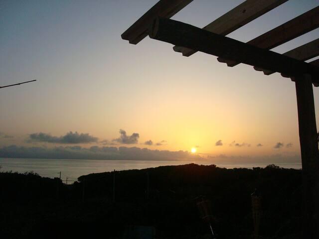 Nascer do sol visto da Cabana
