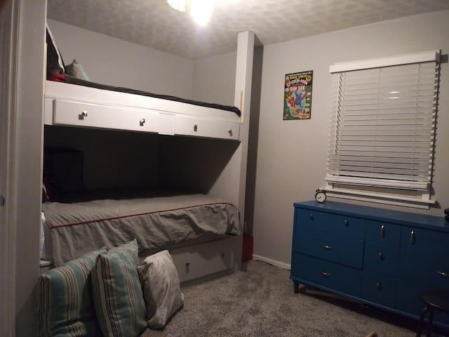 Bedroom #2 has 2 full beds