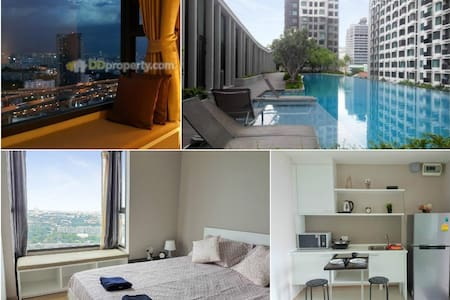 Amazing view 3min to Airportlink Pool WIFI - Bangkok