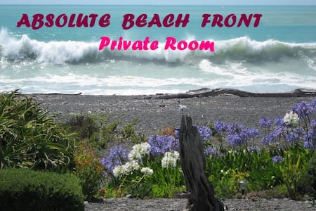 Absolute Beach Front Private Room - Napier - Hus