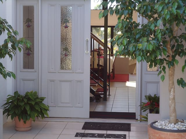 Main entrance to our home