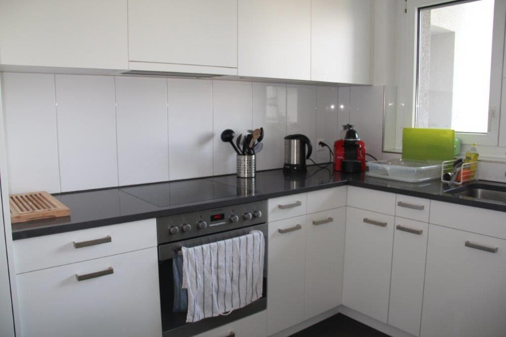 Newly renovated kitchen with dishwasher and microwave
