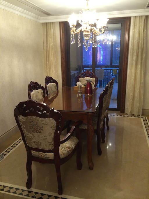 Dining room. The hostress cooks. And you are welcome to cook yourself.