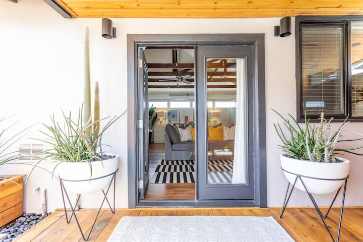 French Doors into Guesthouse