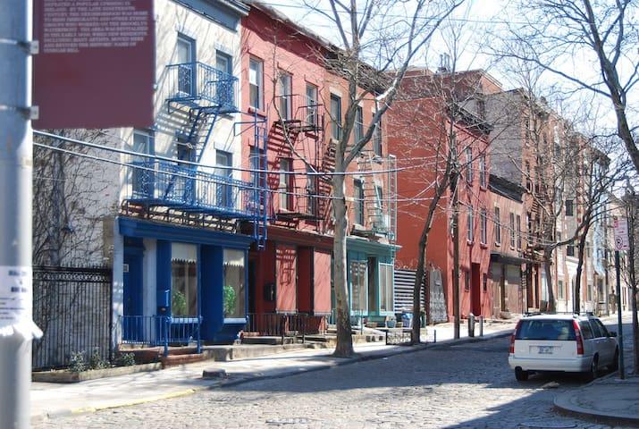 beautiful cobblestone streets in historic Vinegar Hill