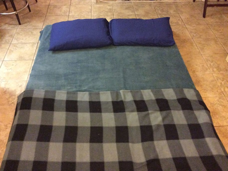 Living Room Queen Foam Bed 2 - For larger groups