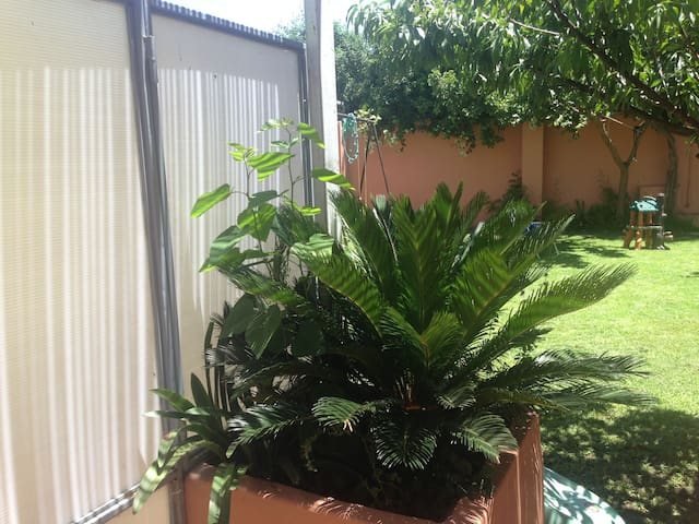 "lovely flat in nice garden""SPA""..."