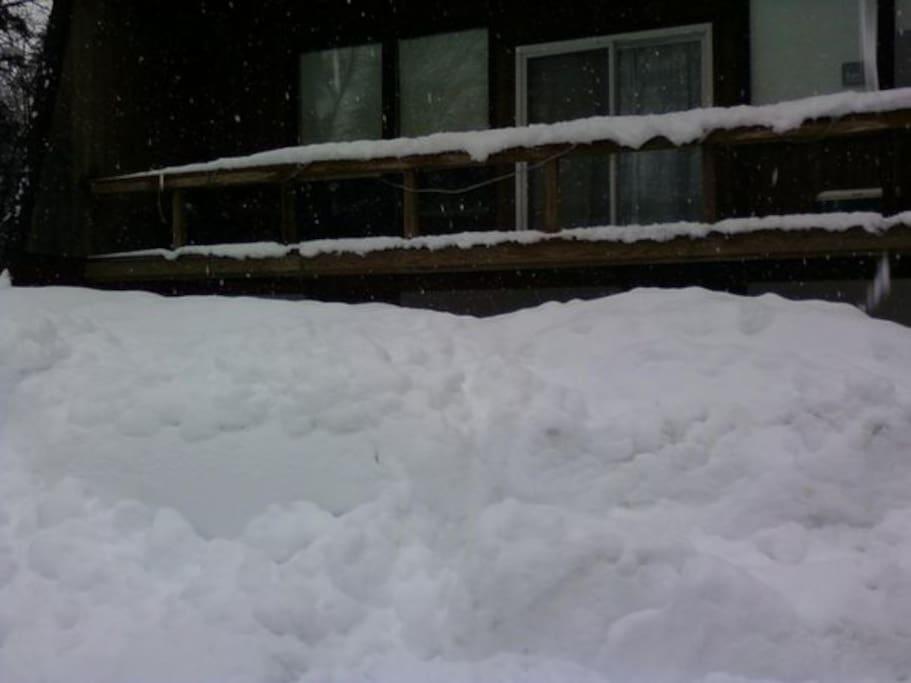 Winter in VT. 2nd floor large deck
