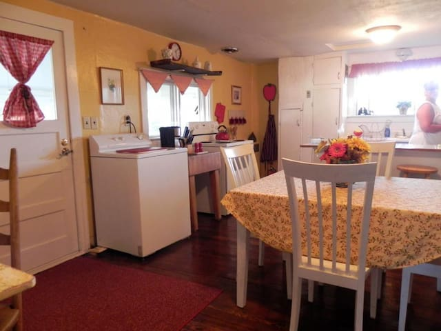 Full kitchen so you can prepare meals for your family if you like.