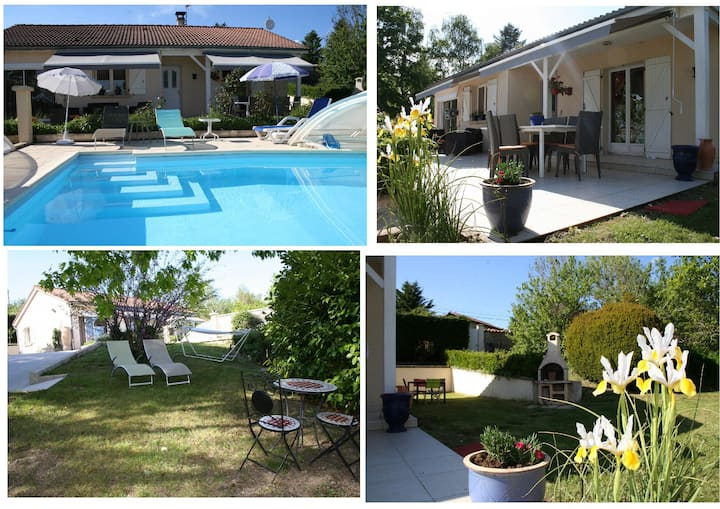 maison avec piscine privée couverte