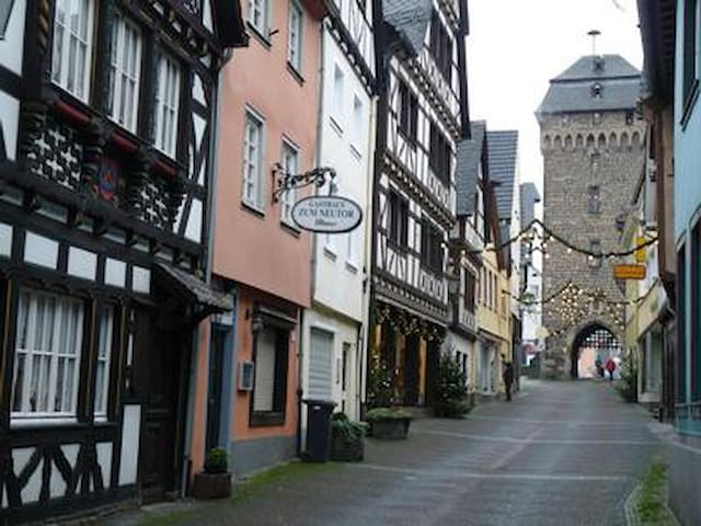 romantic living in an timbered house in the old town of Linz am Rhein