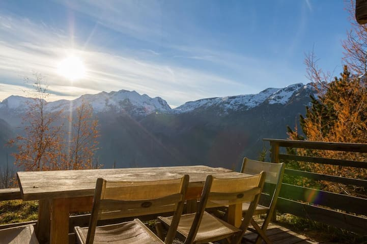 Apt les Vallons in a ****spa chalet: next to slope