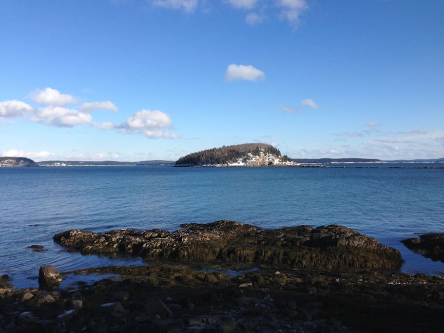 Frenchman's Bay View from Bar Harbor Shorepath - 10 min. from your cottage!