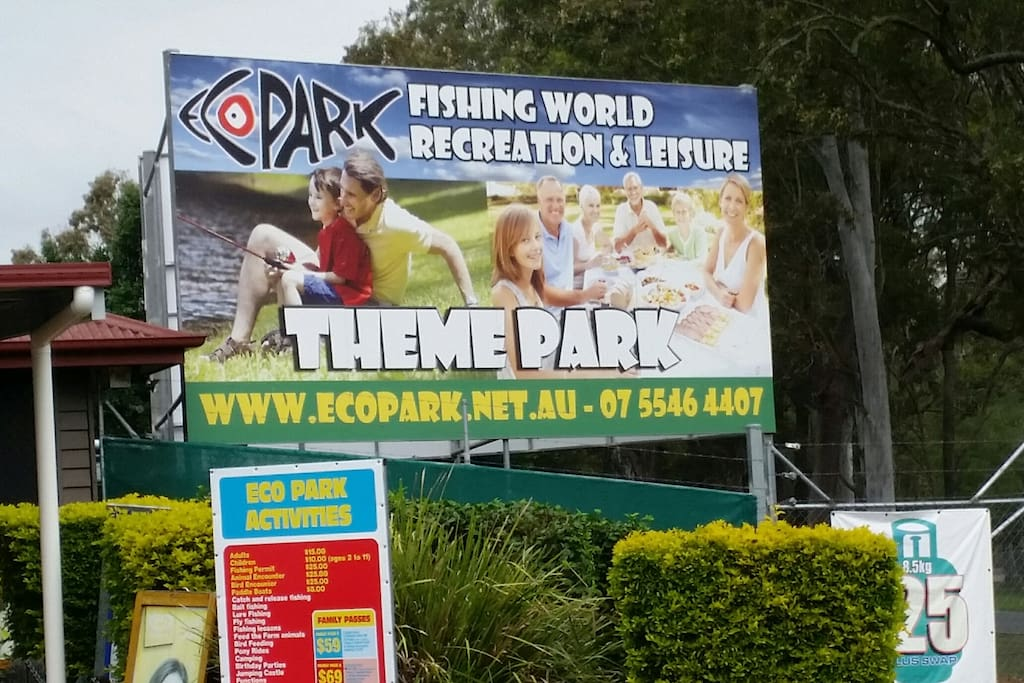 Free entry into EcoPark with your booking ph (07) 55464407