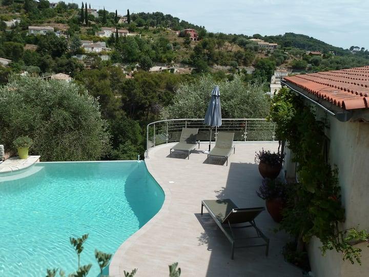 Agréable villa , sur les hauteurs  de Nice