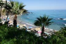 La Viborilla Beach - view from restaurant