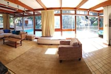 Living room and Pool area