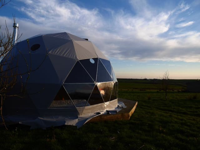 Unique geodesic dome on Devon farmland