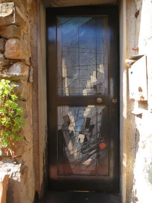 porta d'ingresso dipinta