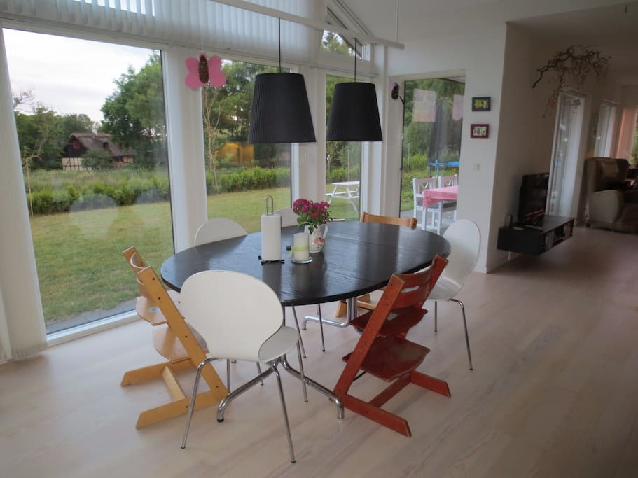 Dining table. We have more chairs - also for adults