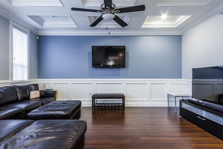 Family room off the kitchen. Great space to gather and socialize.