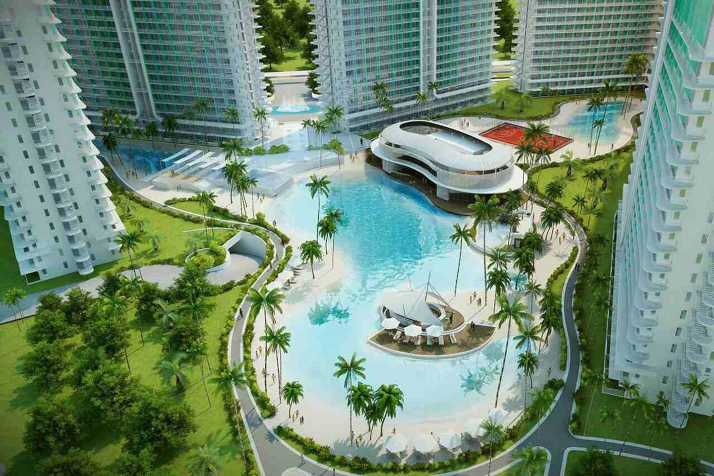 Our Condo Unit is within the Azure Residences - Positano bldg (PS 0217). Amenities manmade sand beach pool with wave and gym.