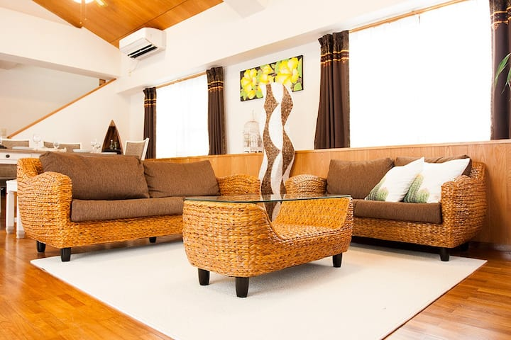 Bali Resort in Yomitanson,Near Private Beach,80㎡