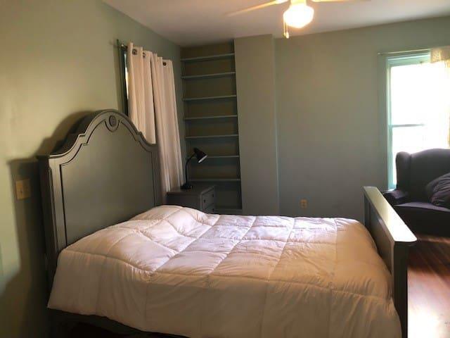 The first floor bedroom.