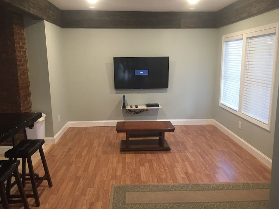 Before we added the furniture - beautiful floors.