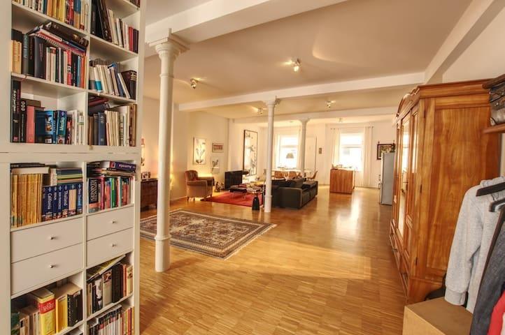 Luxuriöses 100m² Loft Appartment Zentrum/Hbf.