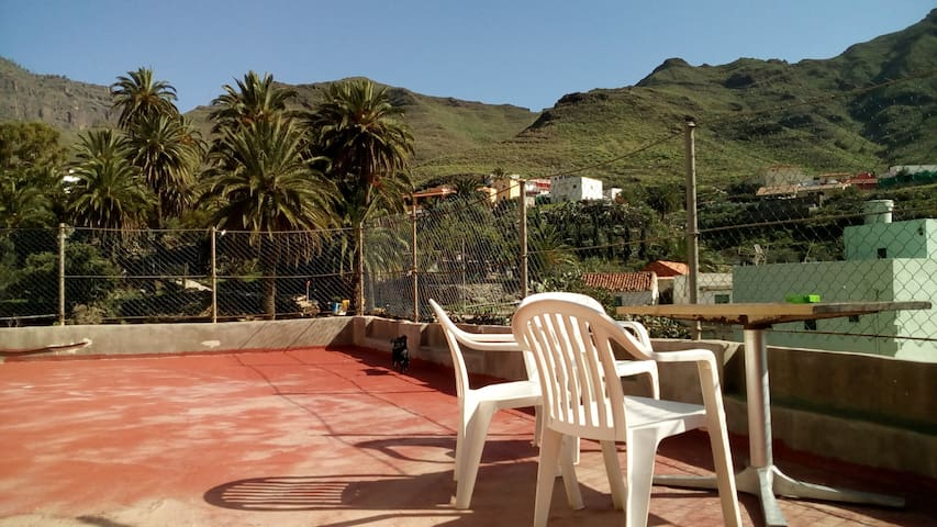 Apartment with double room and terrace in Tasarte - Las Palmas - Byt