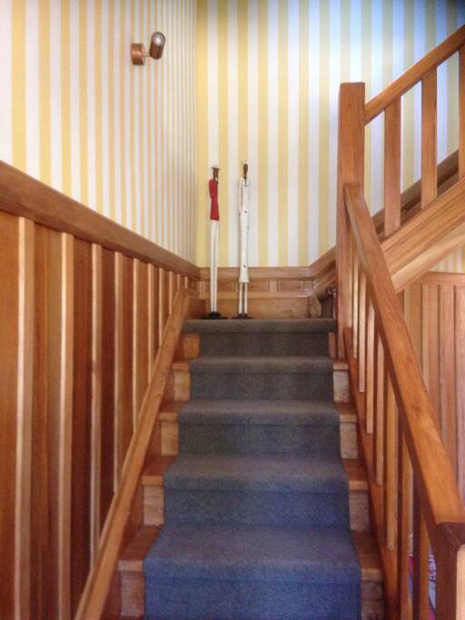 Stairwell leading up to your room